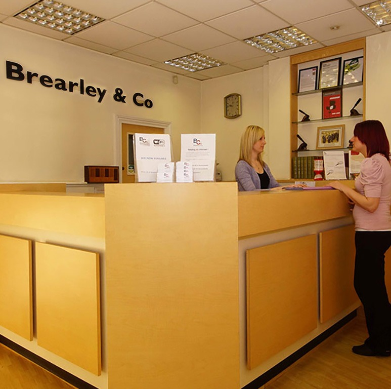 Brearley and Co Accountants Reception