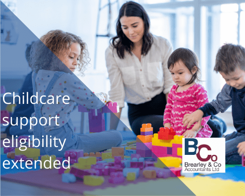 Childcare support eligibility extended