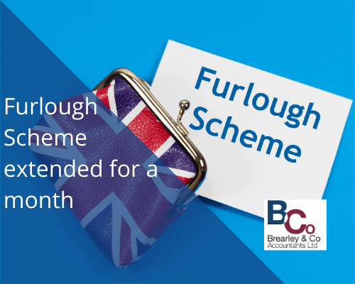 Furlough scheme extended for a month
