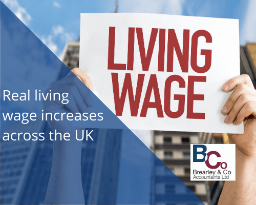 Real living wage increases across uk