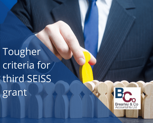 Tougher criteria for third SEISS grant
