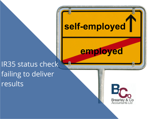 IR35 status check failing to deliver results