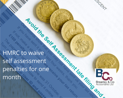 HMRC tax penalty warning letter and pound coins