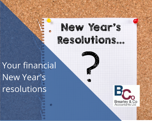 New Year's resolutions blank page