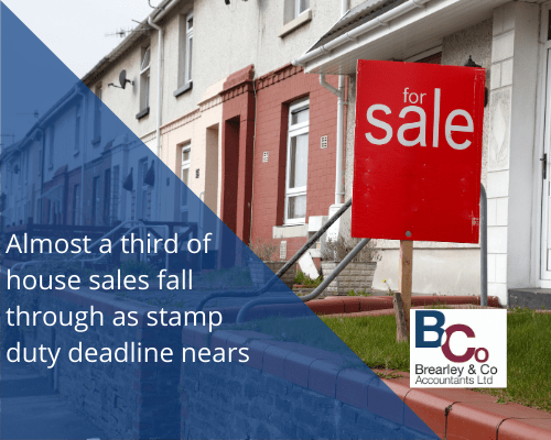 Almost a third of house sales fall through as stamp duty deadline nears