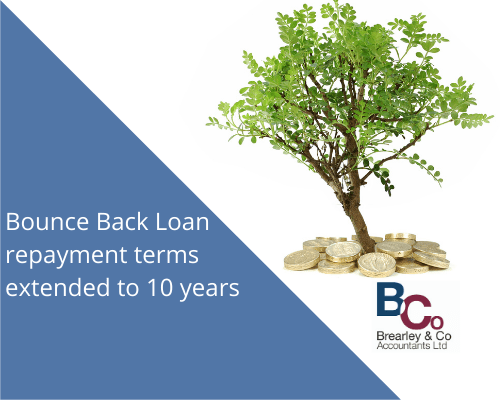 Bounce Back Loan repayment terms extended to 10 years
