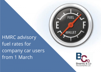 HMRC advisory fuel rates for company car users from 1 March