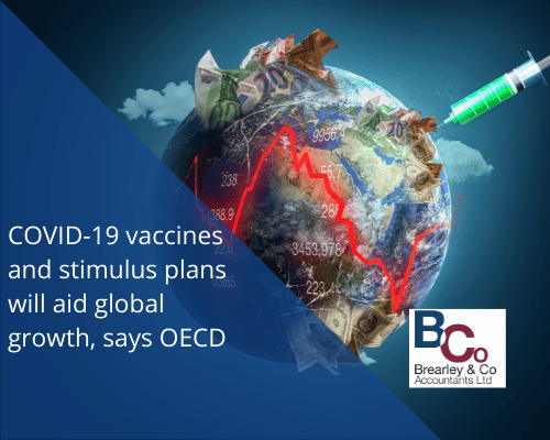 COVID-19 vaccines and stimulus plans will aid global growth, says OECD