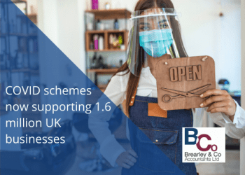 COVID schemes now supporting 1.6 million UK businesses
