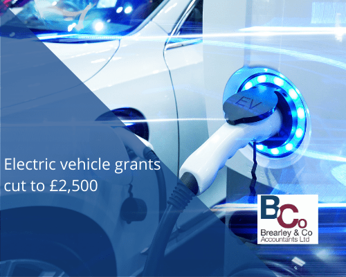 Electric vehicle grants cut to £2,500