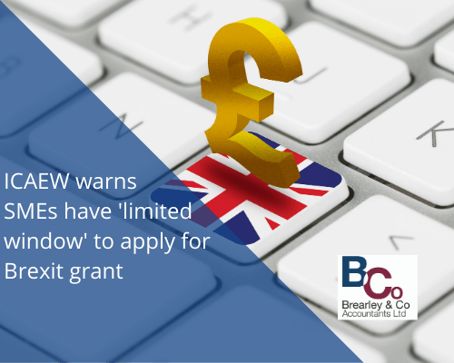 ICAEW warns SMEs have 'limited window' to apply for Brexit grant