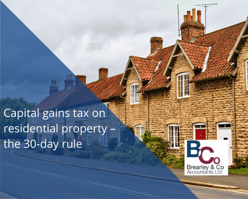 Capital gains tax on residential property – the 30-day rule#3