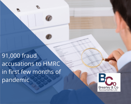 91,000 fraud accusations to HMRC in first few months of pandemic