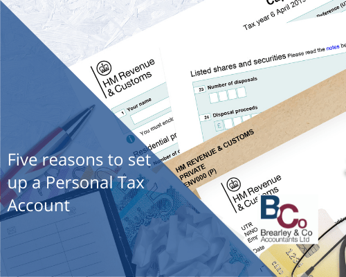 Five reasons to set up a Personal Tax Account