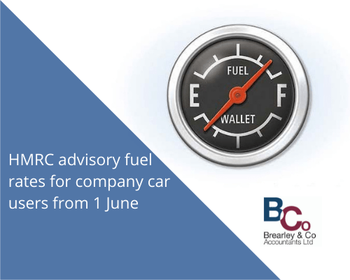 HMRC advisory fuel rates for company car users from 1 June