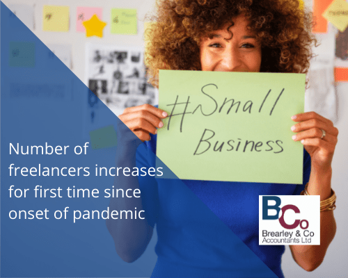 Number of freelancers increases for first time since onset of pandemic