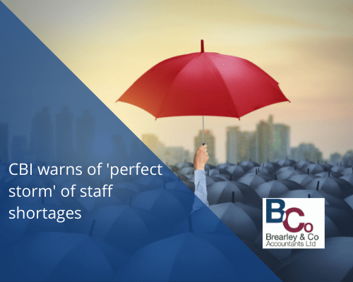 CBI warns of 'perfect storm' of staff shortages