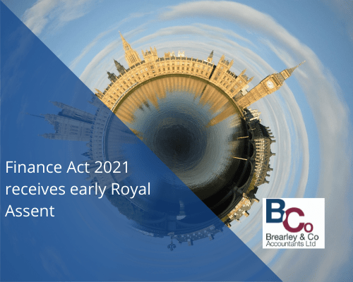 Finance Act 2021 receives early Royal Assent