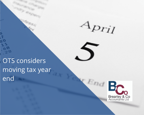 OTS considers moving tax year end