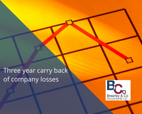 Three year carry back of company losses