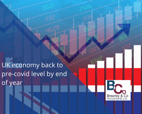 UK economy back to pre-covid level by end of year