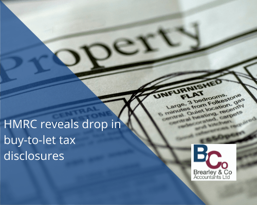 HMRC Reveals drop in buy to let disclosures