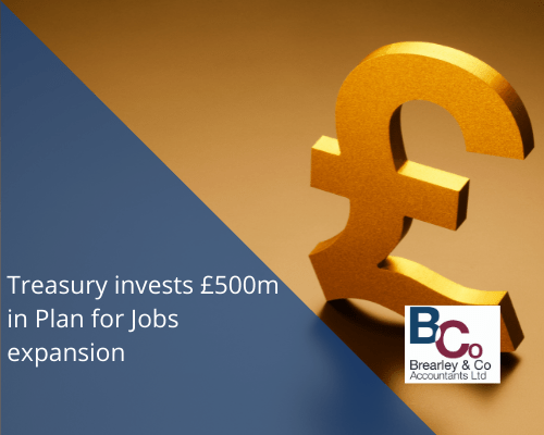 Treasury Invests in plan for jobs